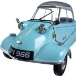 Messerschmitt KR200 Bubble Car Light Blue 1/18 Diecast Model Car by Oxford Diecast