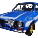 Brians 1974 Ford Escort RS2000 Mk1 Blue with White Stripes Fast & Furious 6 Movie (2013) 1/18 Diecast Model Car by Greenlight