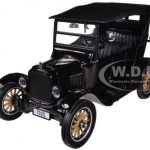 1925 Ford Model T Touring Black 1/24 Diecast Car Model by Sunstar