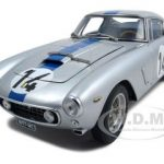1961 Ferrari 250 GT Berlinetta Passo Corto SWB Competizione #14 Silver 1/18 Diecast Car Model by CMC