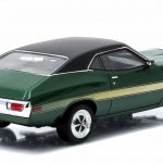 1972 Ford Gran Torino Sport Green with Yellow Stripes Greenlight Exclusive 1/43 Diecast Model Car by Greenlight