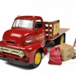 1953 Ford COE Stake Truck with load New Holland Parts & Service 1/34 Diecast Model by First Gear