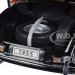 1955 Mercedes 300S Convertible Black 1/18 Diecast Model Car by Welly