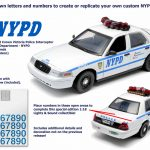 2001 Ford Crown Victoria NYPD White Car Interceptor With Lights and Sounds 1/18 Diecast Model Car by Greenlight