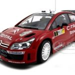 Citroen C4 WRC #1 2007 Winner Rally of Deutchland S.Loeb/D.Elena 1/18 Diecast Model Car by Autoart