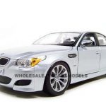 BMW M5 Diecast Model Silver 1/18 Die Cast Car By Maisto