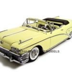 1958 Buick Convertible Yellow 1/18 Diecast Model Car by Sunstar Platinum