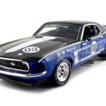 1969 Ford Mustang Boss 302 Racer #3 Blue 1/24 Diecast Car Model by Unique Replicas