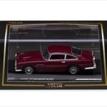 Aston Martin DB4 Dark Metallic Maroon 1/43 Diecast Model Car by Vitesse