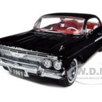 1961 Chevrolet Impala SS 409 Sport Coupe Black 1/18 Diecast Car Model by Sunstar