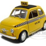 Fiat 500 Taxi Cab 1/24 Diecast Model Car by Bburago