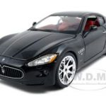 2008 Maserati Gran Turismo Black 1/24 Diecast Car Model by Bburago