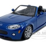 Mazda Miata MX-5  Blue 1/24  Diecast Model Car by Bburago