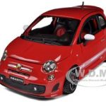 2008 Fiat Abarth 500 Red 1/24 Diecast Car Model by Bburago
