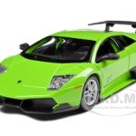 2010 Lamborghini Murcielago LP 670-4 SV Green 1/24 Diecast Model Car by Bburago
