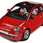 2009 Fiat 500 C Cabriolet Red 1/24 Diecast Model Car by BBurago