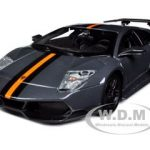 Lamborghini Murcielago LP 670-SV Grey 1/24 Diecast Car Model by Bburago