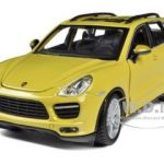 Porsche Cayenne Turbo Yellow 1/24 Diecast Car Model by Bburago