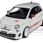 Fiat Abarth 500 SS Essesse White 1/24 Diecast Car Model by Bburago