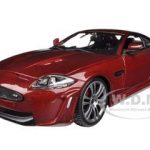 Jaguar XKR-S Burgundy 1/24 Diecast Car Model by Bburago