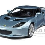 Lotus Evora S IPS Silver / Blue 1/24 Diecast Car Model by Bburago