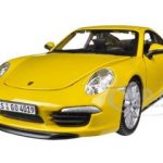 Porsche 911 (997) Carrera S Yellow 1/24 Diecast Car Model by Bburago