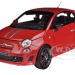 Fiat Abarth 695 Ferrari Tribute Red 1/24 Diecast Car Model by Bburago
