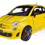 Fiat Abarth 695 Ferrari Tribute Yellow 1/24 Diecast Car Model by Bburago