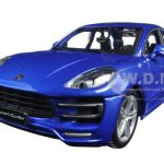 Porsche Macan Turbo Blue 1/24 Diecast Model Car by BBurago