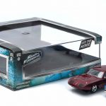 1969 Dodge Charger Daytona and 1974 Ford Escort RS 2000 Mkl The Fast and The Furious Movie Diorama Set 1/43 Diecast Model Cars by Greenlight