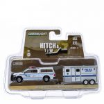 2014 Dodge Ram 1500 NYPD Pickup Truck and NYPD Horse Trailer Hitch & Tow Series 4 1/64 Diecast Model by Greenlight