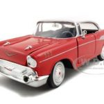 1957 Chevrolet Bel Air Red 1/24 Diecast Model Car by Motormax
