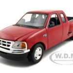 Ford F-150 Pickup Truck Flareside Supercab Red 1/24 Diecast Model Car by Motormax