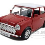 1969 Mini Cooper Red 1/24  Diecast Model Car by Bburago