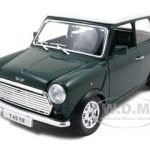 1969 Mini Cooper Green 1/24 Diecast Model Car by Bburago