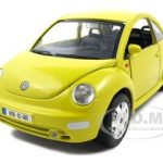 Volkswagen New Beetle Yellow 1/24 Diecast Model Car by Bburago