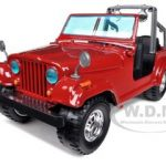 Jeep Wrangler Red 1/24 Diecast Car Model by Bburago