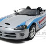 Dodge Viper SRT/10 Silver 1/24 Diecast Model Car by Bburago