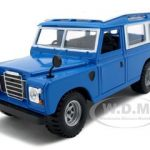 Old Land Rover Blue 1/24 Diecast Model Car by Bburago