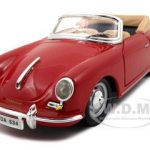 1961 Porsche 356 B Cabriolet  Red 1/24 Diecast Model Car by Bburago