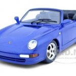 Porsche 911 Carrera Cabriolet Blue 1/24 Diecast Model Car by Bburago