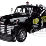 1953 Chevrolet 3800 Tow Truck Black Road Service 1/24 Diecast Model by Welly