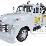 1953 Chevrolet 3800 Tow Truck White Road Service 1/24 Diecast Model by Welly
