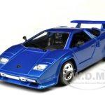 Lamborghini Countach 5000 Quattrovalvole Blue 1/24 Diecast Model Car by Bburago
