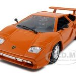 Lamborghini Countach 5000 Orange 1/24 Diecast Model Car by Bburago