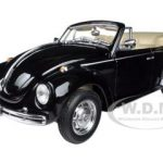 Volkswagen Beetle Convertible Black 1/24 Diecast Car Model by Welly