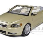 Volvo C70 Convertible Gold 1/24 Diecast Car Model by Bburago