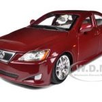 Lexus IS 350 Red 1/24 Diecast Car Model by Bburago