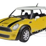 Mini Cooper S Coupe Yellow 1/24 Diecast Car Model by Bburago