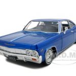 1965 Chevrolet Impala SS 396 Dark Blue Lowrider 1/24 Diecast Car Model by Welly